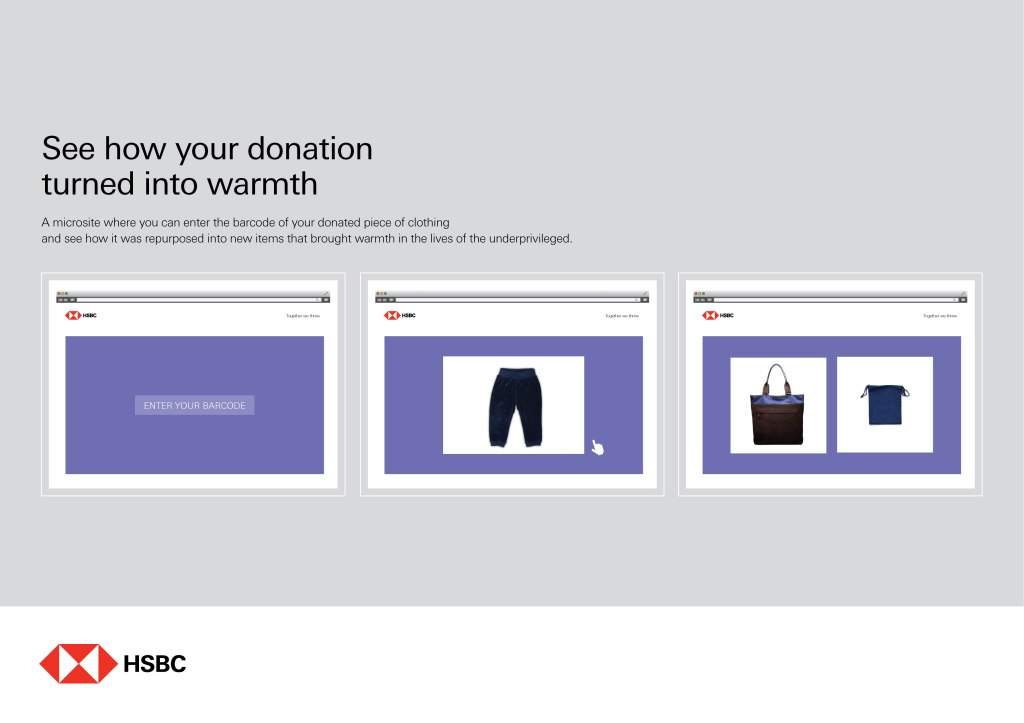 MICROSITE TO TRACK DONATED CLOTHING
